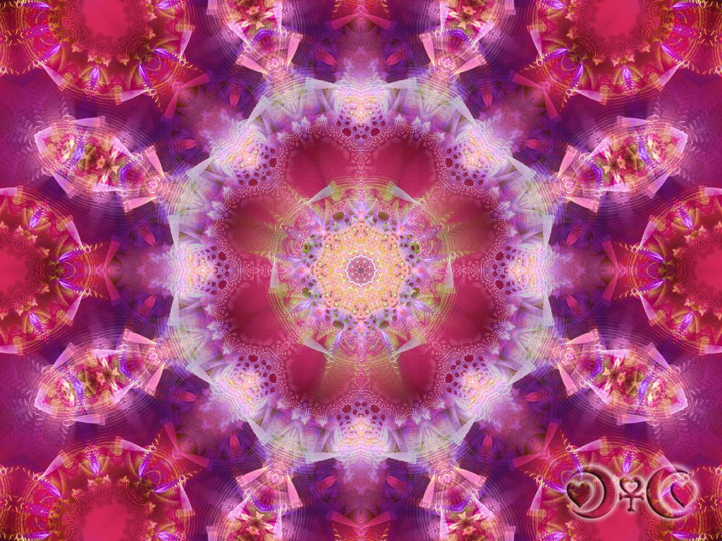 Tickle Me Pink Floral Essence Mandala