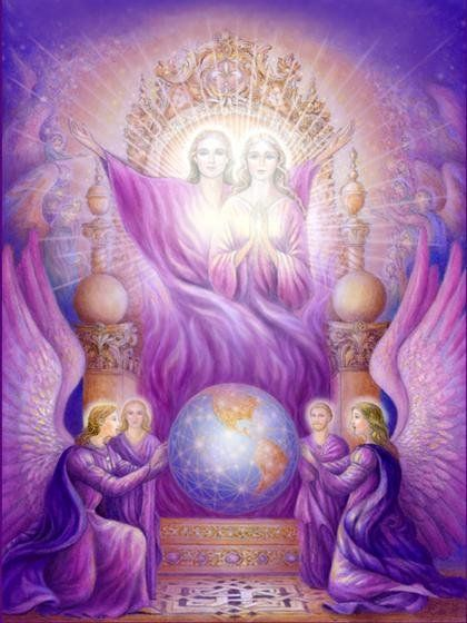 Image of The Deity and The Violet Flame