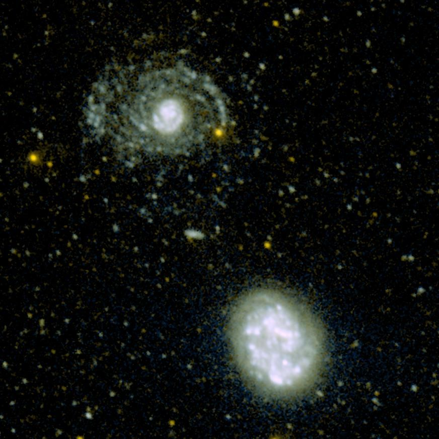 Look at my Arms! -- NGC 4625 and NGC 4618 Galaxies